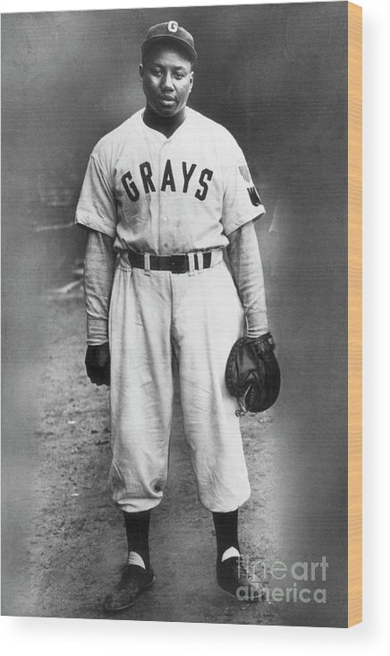 People Wood Print featuring the photograph Portrait Of Josh Gibson In Grays Uniform by Bettmann