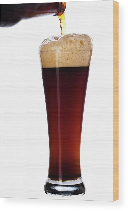 Stout Wood Print featuring the photograph Pouring The Lager by Eli asenova