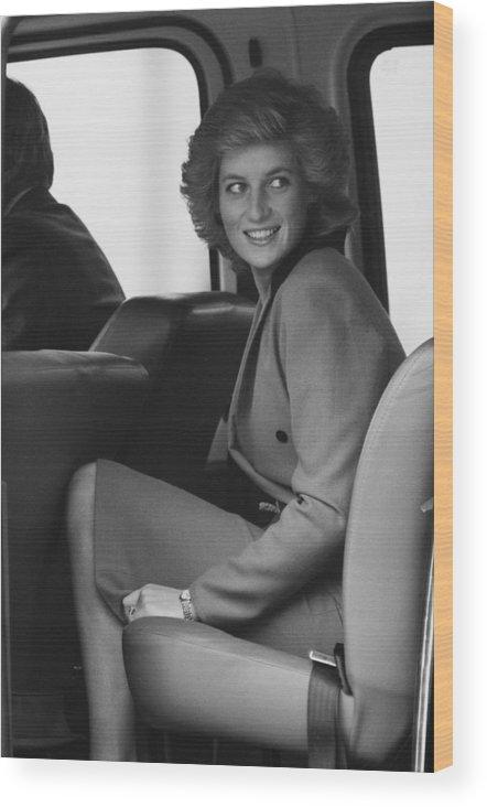 1980-1989 Wood Print featuring the photograph Princess Diana by John Downing