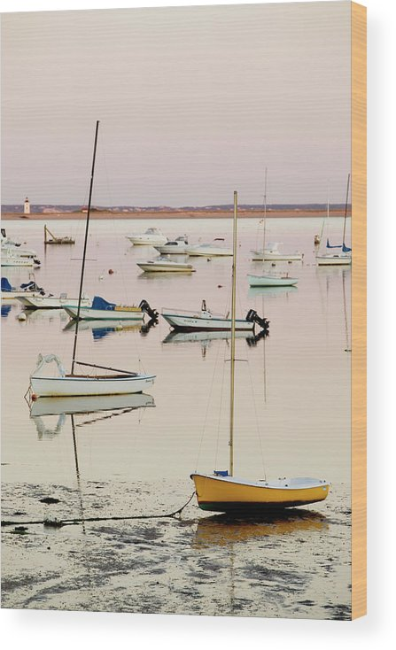 Sailboat Wood Print featuring the photograph Provincetown Harbor by Walter Bibikow