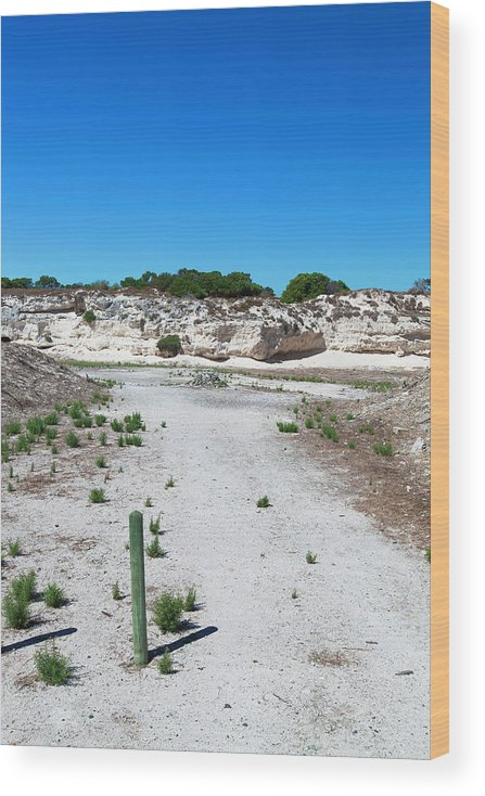 Tranquility Wood Print featuring the photograph Robben Island Quarry Stone Pile by Iselin Valvik Photography