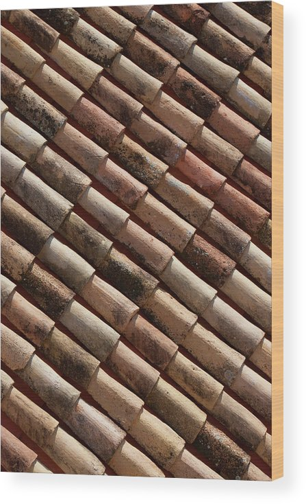 In A Row Wood Print featuring the photograph Rooftop In Dubrovnik Old Town by Martin Child