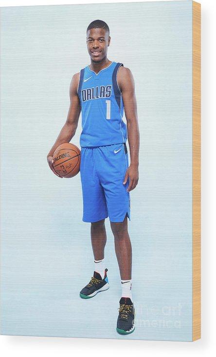 Nba Pro Basketball Wood Print featuring the photograph Rookie Photo Shoot 2017 by Jennifer Pottheiser