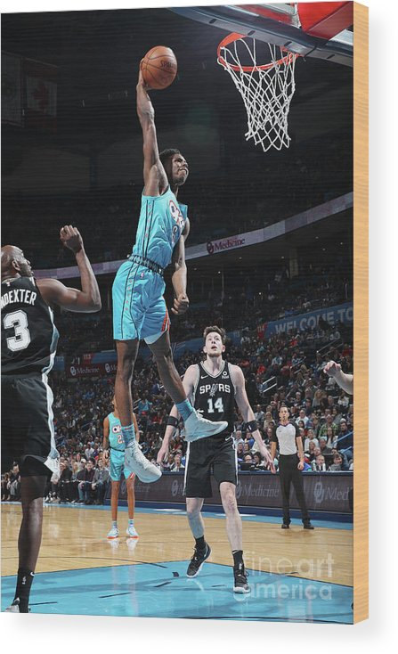 Nba Pro Basketball Wood Print featuring the photograph San Antonio Spurs V Oklahoma City by Zach Beeker