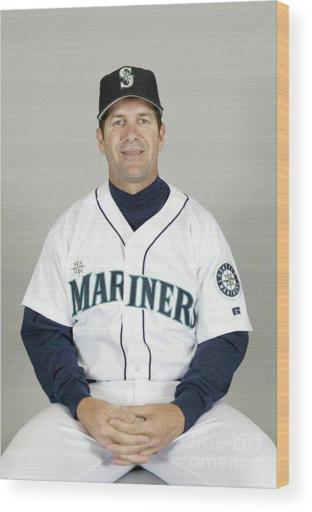 American League Baseball Wood Print featuring the photograph Seattle Mariners Headshots by Major League Baseball Photos