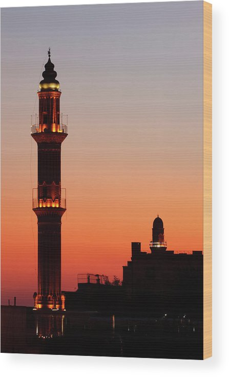 Built Structure Wood Print featuring the photograph Sehidiye Mosque Minaret by Wu Swee Ong