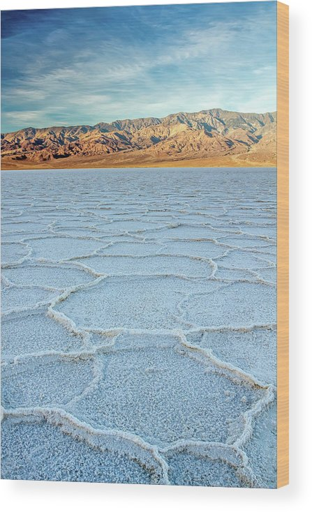 Scenics Wood Print featuring the photograph Sunrise At Badwater, Death Valley by Pierre Leclerc Photography