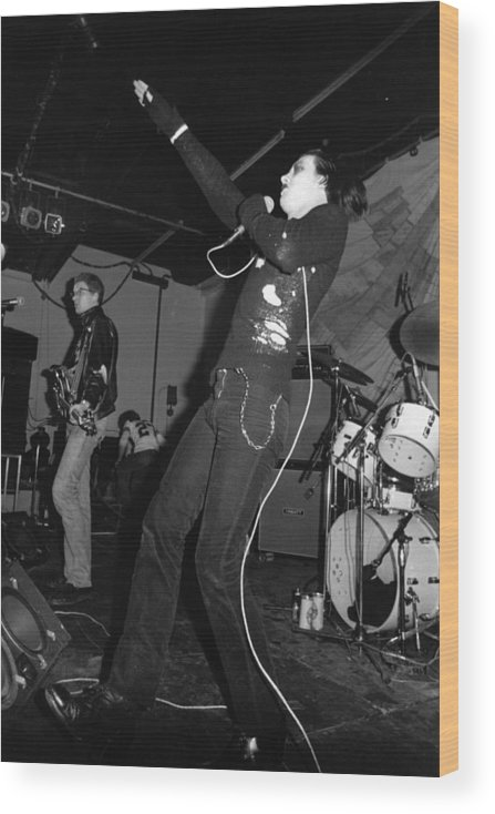 Concert Wood Print featuring the photograph The Damned by Graham Wood