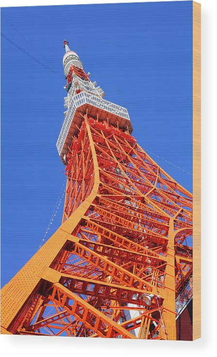 Tokyo Tower Wood Print featuring the photograph Tokyo Tower by Ngkaki