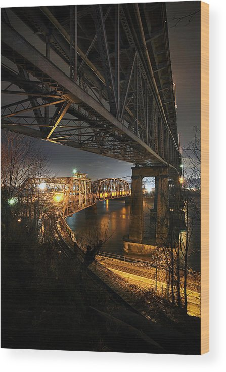 Built Structure Wood Print featuring the photograph Underbelly by Kevin Van Der Leek Photography