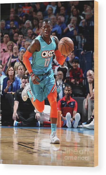 Nba Pro Basketball Wood Print featuring the photograph Washington Wizards V Oklahoma City by Zach Beeker