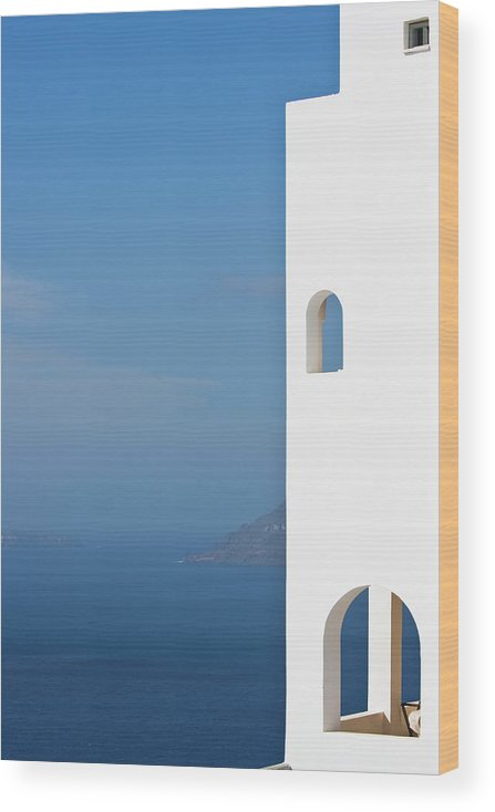 Greece Wood Print featuring the photograph Windows To The Blue by Arturbo