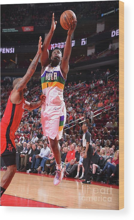 Nba Pro Basketball Wood Print featuring the photograph Zion Williamson by Bill Baptist