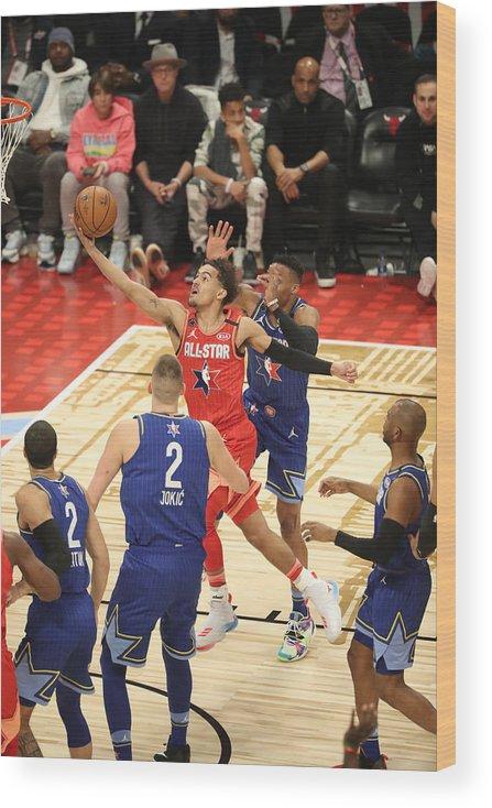Nba Pro Basketball Wood Print featuring the photograph 69th NBA All-Star Game by Joe Murphy