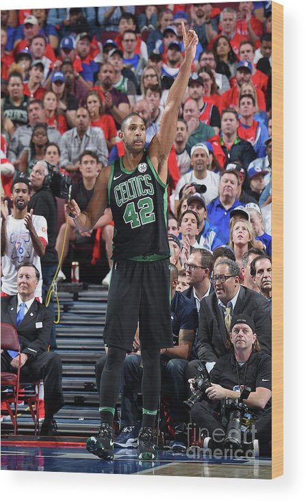 Playoffs Wood Print featuring the photograph Al Horford by Brian Babineau