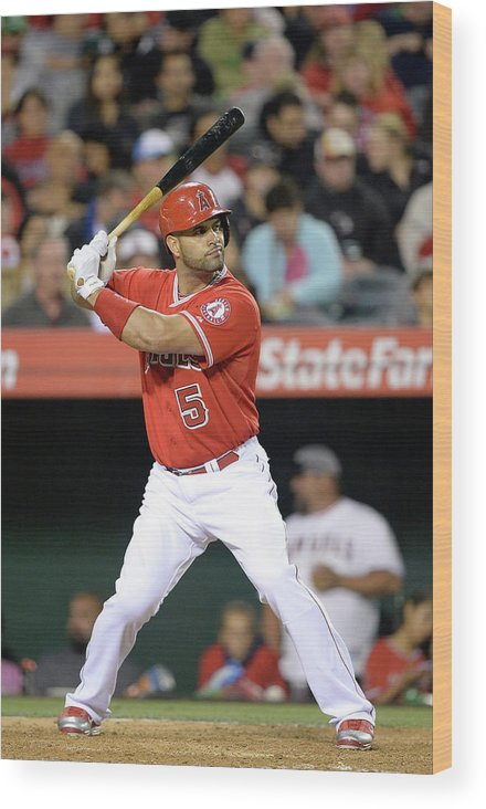 American League Baseball Wood Print featuring the photograph Albert Pujols by Harry How