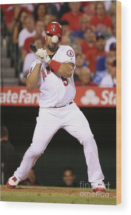 People Wood Print featuring the photograph Albert Pujols by Sean M. Haffey