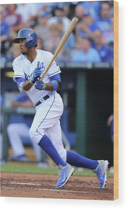 Second Inning Wood Print featuring the photograph Alcides Escobar by Ed Zurga