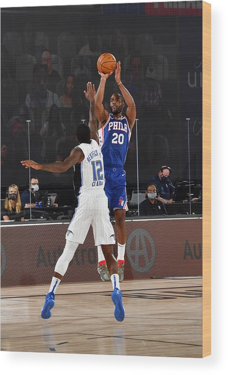 Nba Pro Basketball Wood Print featuring the photograph Alec Burks by Jesse D. Garrabrant