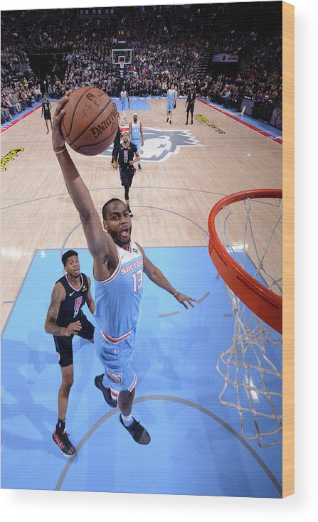 Nba Pro Basketball Wood Print featuring the photograph Alec Burks by Rocky Widner