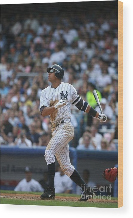 People Wood Print featuring the photograph Alex Rodriguez by Rich Pilling
