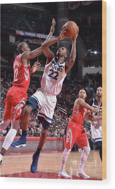 Nba Pro Basketball Wood Print featuring the photograph Andrew Wiggins by Bill Baptist