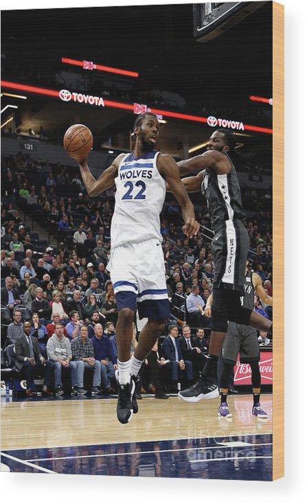 Nba Pro Basketball Wood Print featuring the photograph Andrew Wiggins by Jordan Johnson
