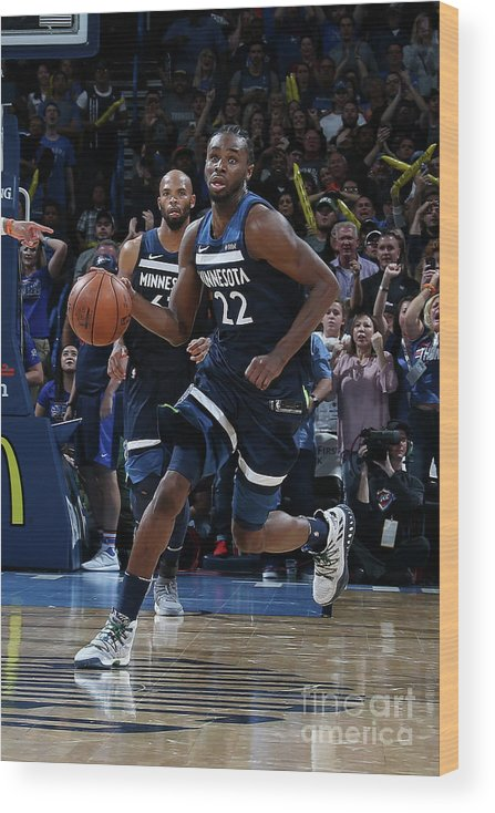 Sport Wood Print featuring the photograph Andrew Wiggins by Layne Murdoch