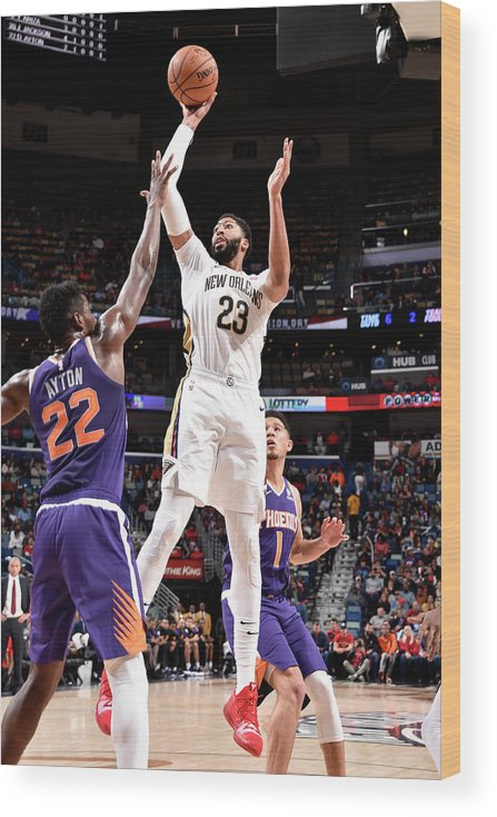 Smoothie King Center Wood Print featuring the photograph Anthony Davis by Bill Baptist