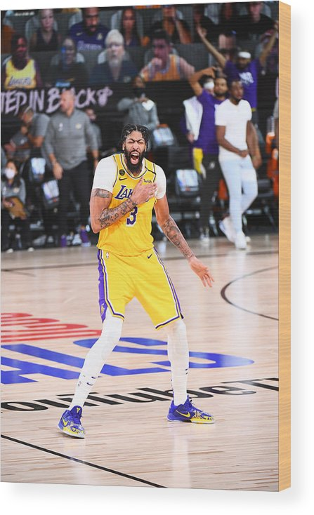 Playoffs Wood Print featuring the photograph Anthony Davis by Garrett Ellwood