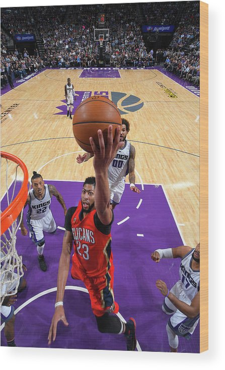 Nba Pro Basketball Wood Print featuring the photograph Anthony Davis by Rocky Widner