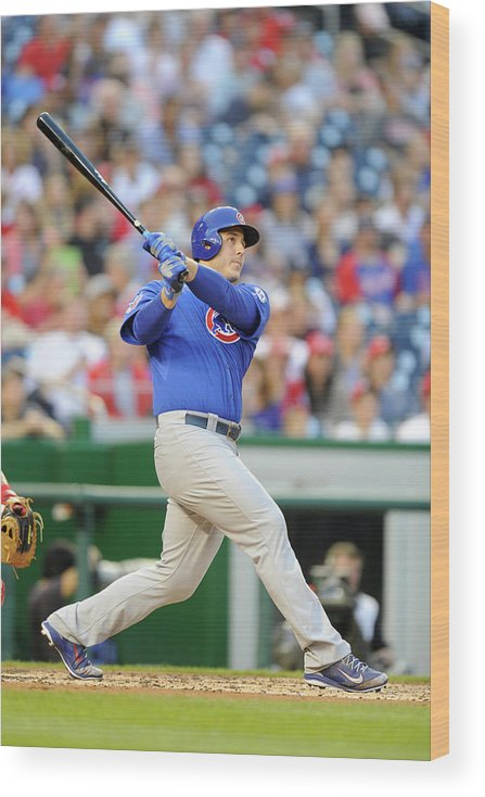 People Wood Print featuring the photograph Anthony Rizzo by Mitchell Layton