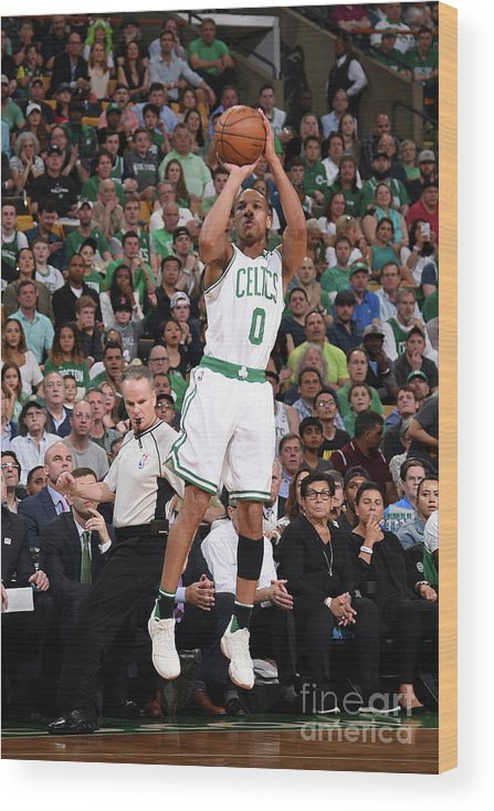 Playoffs Wood Print featuring the photograph Avery Bradley by Brian Babineau