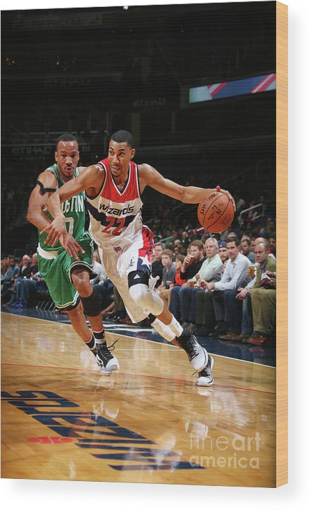 Nba Pro Basketball Wood Print featuring the photograph Avery Bradley by Ned Dishman