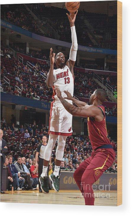 Nba Pro Basketball Wood Print featuring the photograph Bam Adebayo by David Liam Kyle
