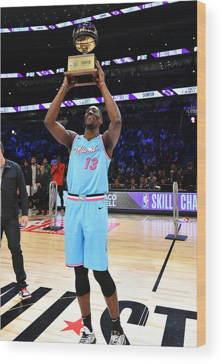 Nba Pro Basketball Wood Print featuring the photograph Bam Adebayo by Jesse D. Garrabrant