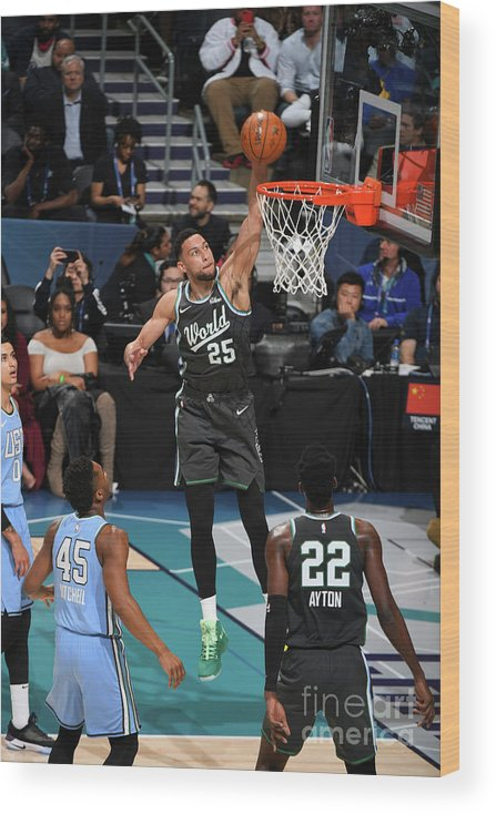 Nba Pro Basketball Wood Print featuring the photograph Ben Simmons by Garrett Ellwood