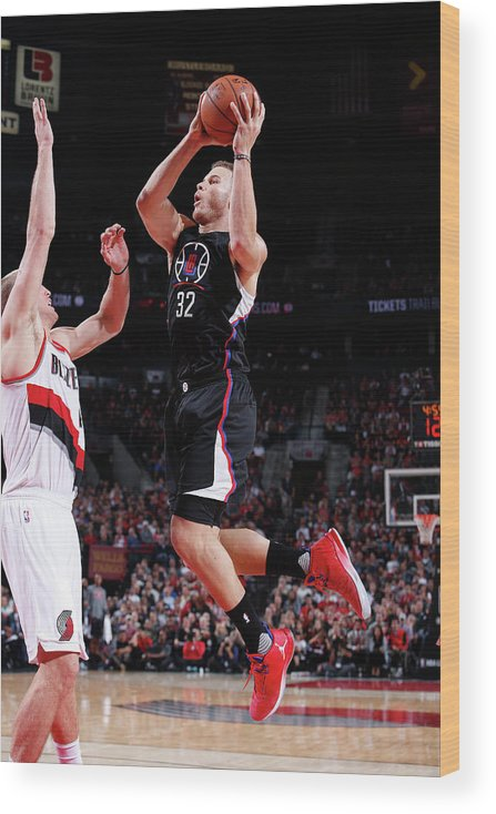 Nba Pro Basketball Wood Print featuring the photograph Blake Griffin by Sam Forencich