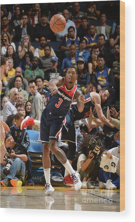 Nba Pro Basketball Wood Print featuring the photograph Bradley Beal by Noah Graham