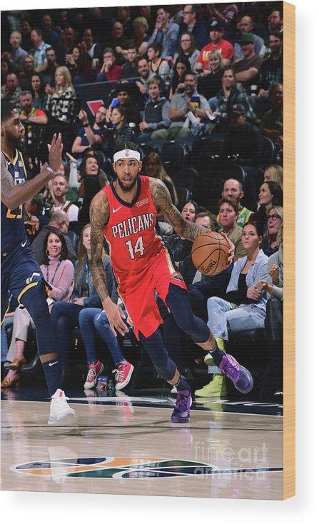 Nba Pro Basketball Wood Print featuring the photograph Brandon Ingram by Noah Graham