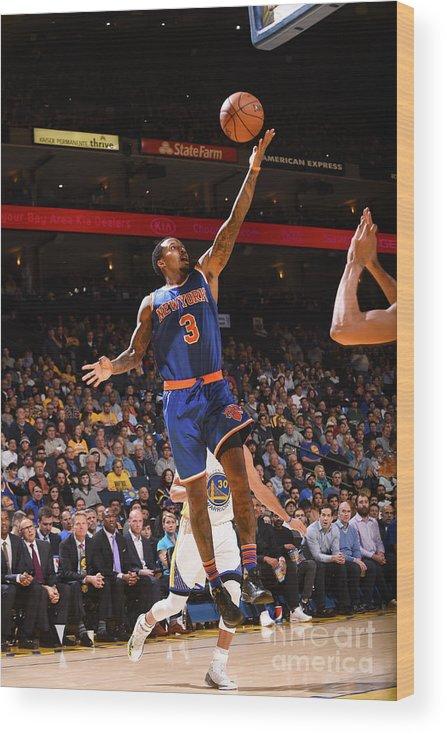 Nba Pro Basketball Wood Print featuring the photograph Brandon Jennings by Noah Graham