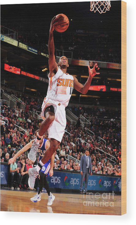 Nba Pro Basketball Wood Print featuring the photograph Brandon Knight by Barry Gossage