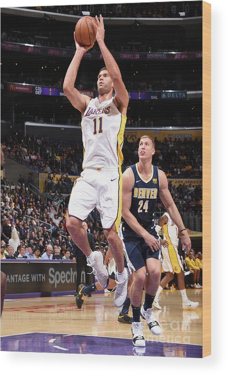 Nba Pro Basketball Wood Print featuring the photograph Brook Lopez by Andrew D. Bernstein