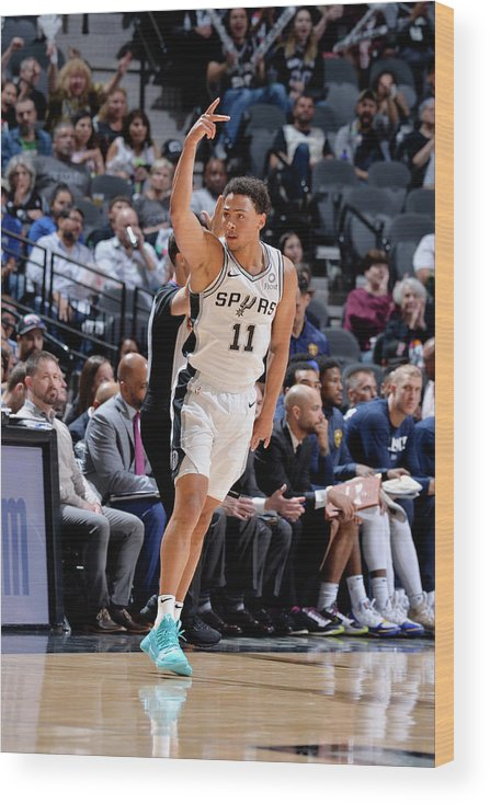 Playoffs Wood Print featuring the photograph Bryn Forbes by Mark Sobhani