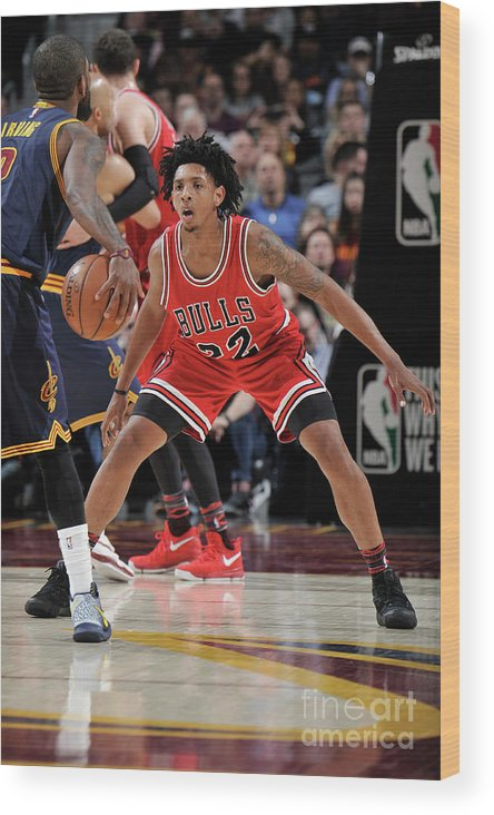 Nba Pro Basketball Wood Print featuring the photograph Cameron Payne by David Liam Kyle