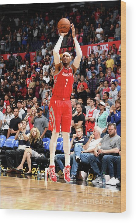 Nba Pro Basketball Wood Print featuring the photograph Carmelo Anthony by Andrew D. Bernstein