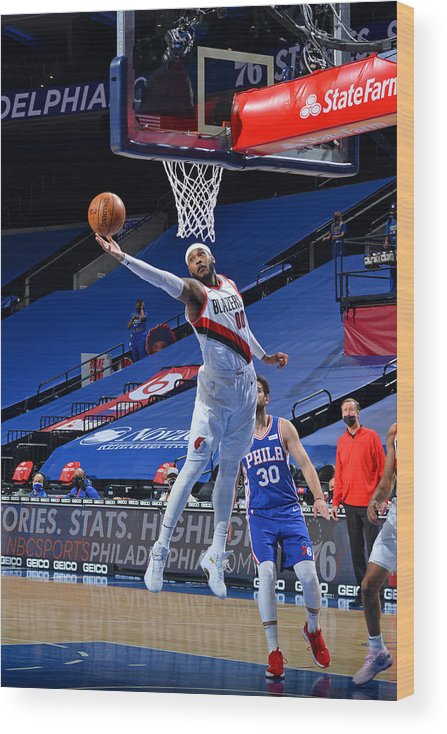 Nba Pro Basketball Wood Print featuring the photograph Carmelo Anthony by Jesse D. Garrabrant
