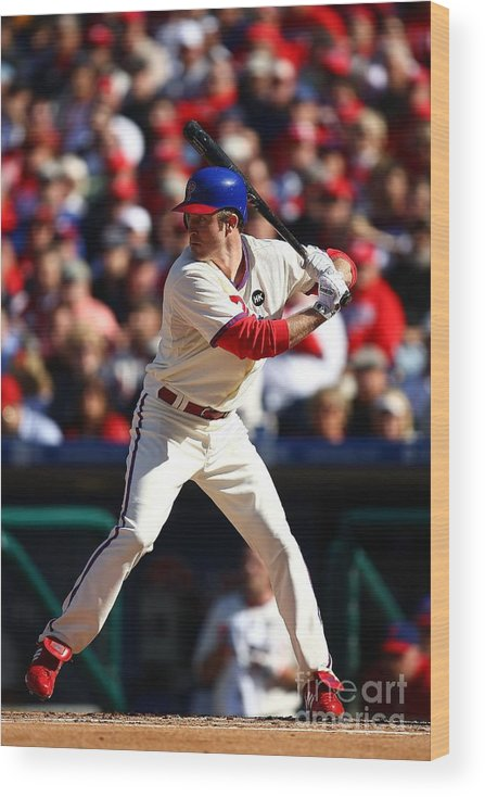 Playoffs Wood Print featuring the photograph Chase Utley by Chris Mcgrath