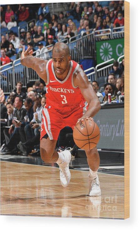 Nba Pro Basketball Wood Print featuring the photograph Chris Paul by Fernando Medina