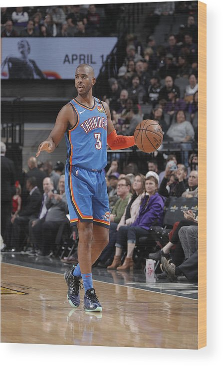 Nba Pro Basketball Wood Print featuring the photograph Chris Paul by Rocky Widner